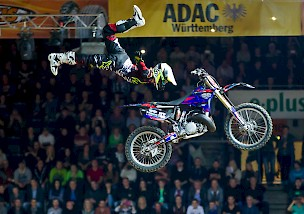 Top-Freestyler beim ADAC Supercross Stuttgart am Start