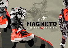 LIMITIERTE AUFLAGE DES 'MAGNETO 19' TECH 7S BOOT UND YOUTH RACER GEAR SET