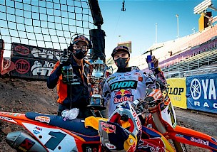 Cooper Webb gewinnt die 14. Runde des AMA Supercross Serie 2020 in Salt Lake City.